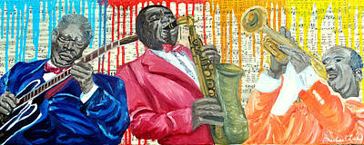 Music Royalty-Free and Rights-Managed Images - Masters Of Jazz by Michael Lee