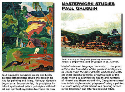 Painting - masterwork study of Paul Gauguin by Banning Lary