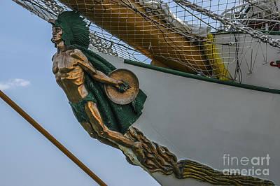 Photograph - Masthead - Cisne Branco - Brazilian Tall Ship by Dale Powell