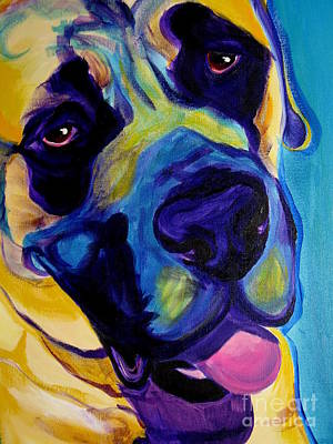 Dawgart Painting - Mastiff - Lazy Sunday by Alicia VanNoy Call