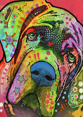 Dog Pet Portraits Mixed Media - Mastiff by Dean Russo