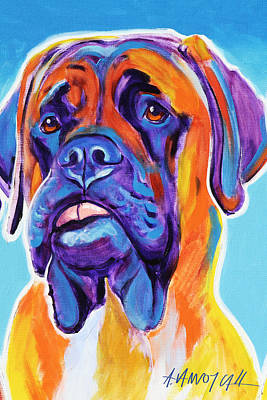 Mastiff - Lexus Art Print by Alicia VanNoy Call