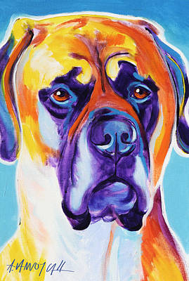 Mastiff - Mercedes Art Print by Alicia VanNoy Call