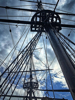 Photograph - Masts And Rigging by David A Lane