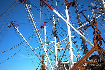 Art Print featuring the photograph Masts At Barnegat Bay by John Rizzuto