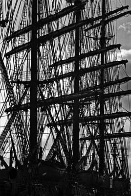 Graphic Photograph - Masts by David Halperin