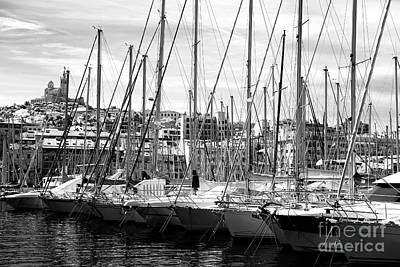 Masts In The Harbor Art Print by John Rizzuto
