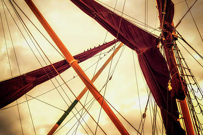 Photograph - Masts Of Yacht by John Williams