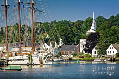 Photograph - Masts On The Mystic River by Susan Cole Kelly