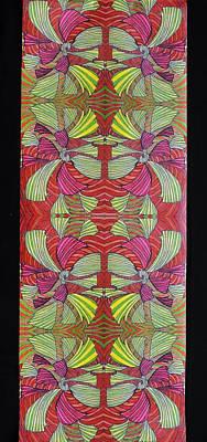 Ceramic Mixed Media - Mat-link Wallpaper Design by Rahel TaklePeirce