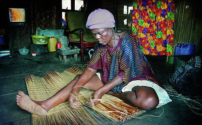 Photograph - Mat Weaving by Muyiwa OSIFUYE