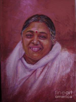 Mata Amritanandamayi Art Print by Asha Porayath