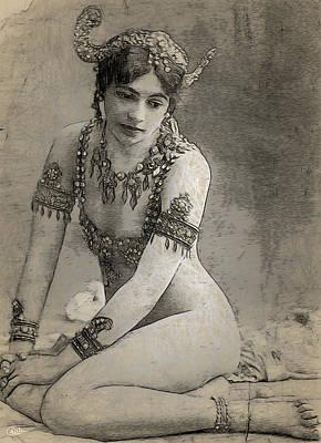 Mata Hari Sketch Art Print by Joaquin Abella
