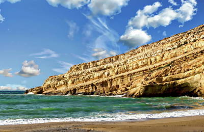 Photograph - Matala Coastal View by Anthony Dezenzio