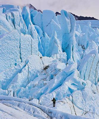 Matanuska Glacier Alaska Hiking Art Print by Sam Amato