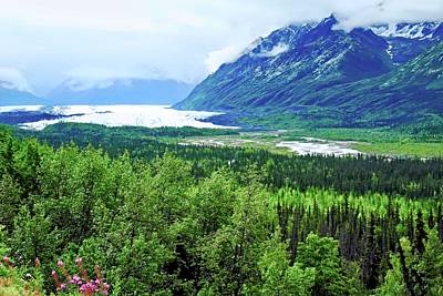 Photograph - Matanuska Glacier And Mountains by Kirsten Giving