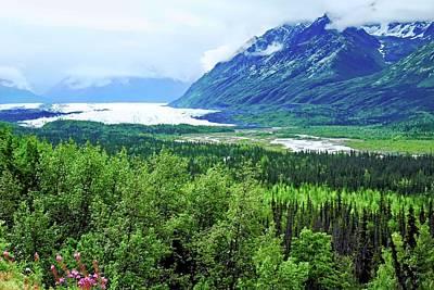 Photograph - Matanuska Glacier And Mountains by Kirsten Giving