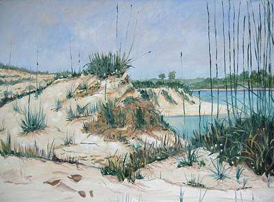 Painting - Matanzas Inlet Midday by D T LaVercombe