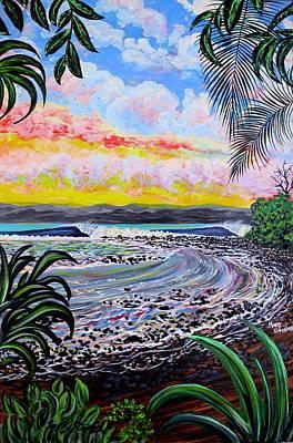 Puravida Painting - Matapalo Morning by Marty  Calabrese