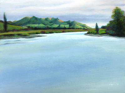 Mataura River Winter Art Print by Angela Treat Lyon