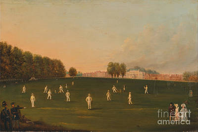 Painting - Match Of Cricket At Hampton Court by Celestial Images