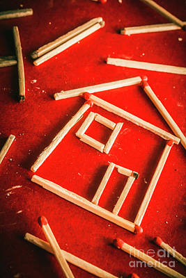 Design Element Photograph - Matchstick Houses by Jorgo Photography - Wall Art Gallery