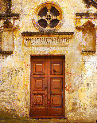 Matera Church Door Art Print