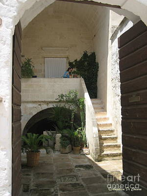 Photograph - Matera, Italian Courtyard by Italian Art