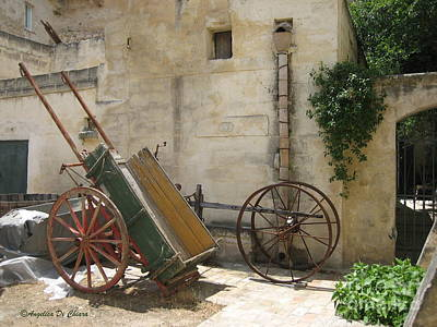 Photograph - Matera Old Horsecart Italy by Italian Art