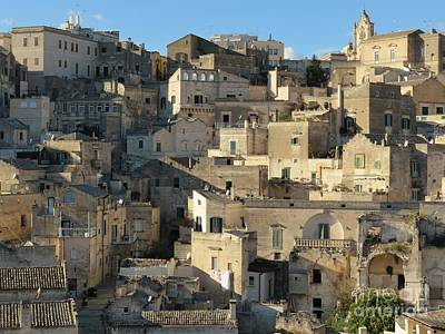 Photograph - Matera Stones by Laurie Morgan