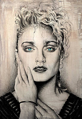 Musicians Drawings - Material Girl by Andrew Read