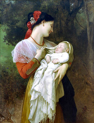 Painting - Maternal Admiration 1869 by William Bougeureau