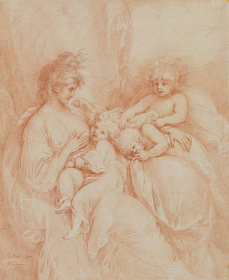 Drawing - Maternity by Benjamin West