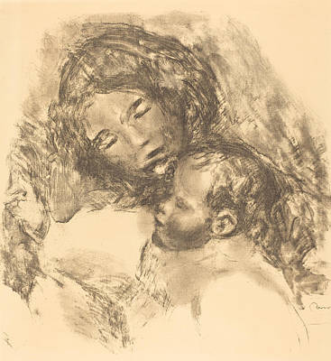 Caring Mother Drawing - Maternity -maternite by Auguste Renoir
