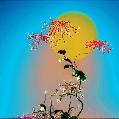 Digital Art - Math Chrysanthemum 2 by GuoJun Pan
