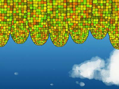 Digital Art - Math Corn by GuoJun Pan