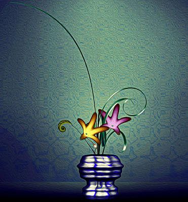 Digital Art - Math Flower 5 by GuoJun Pan