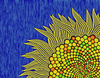 Digital Art - Math Sunflower1 by GuoJun Pan