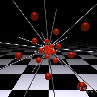 Red Digital Art - Mathematics  -4- by Issabild -