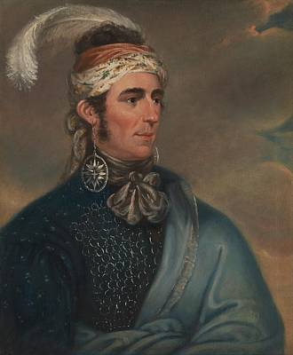 Chief Painting - Mather Brown - Portrait Of Major John Norton As Mohawk Chief Teyoninhokarawen - Circa 1805 by Celestial Images