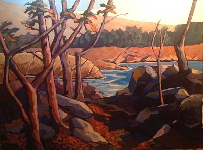 Wall Art - Painting - Mather Gorge, Great Falls by Edward Abela
