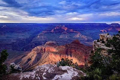 Mather Point Sunset - Grand Canyon Arizona Art Print by Jon Berghoff
