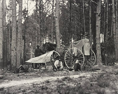 Stationary Photograph - Mathew Brady Wagon by Underwood Archives