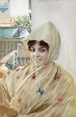 Drawing - Mathilde by Anders Zorn