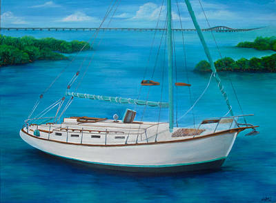 Painting - Matilda In The Florida Keys by Jacqueline Endlich