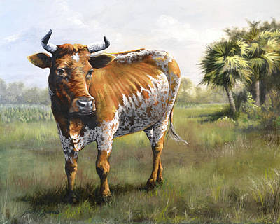Painting - On The Florida Prairie Matilda by Joan Garcia