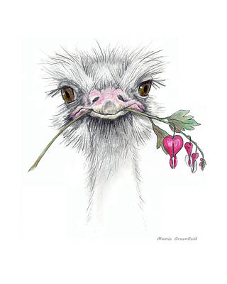 Painting - Matilda The Ostrich by Mamie Greenfield