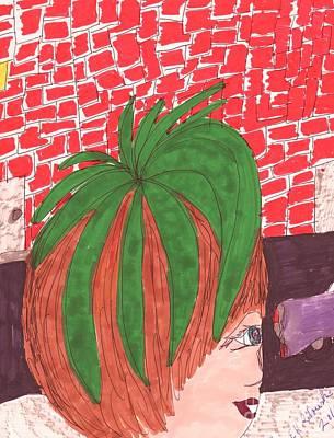 Matilda's Cousin's Tomato Head Look Art Print by Elinor Rakowski