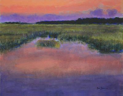 South Carolina Low Country Marsh Painting - Matins by David Zimmerman