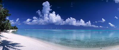 Boras Photograph - Matira Beach Bora Bora Polynesia by Panoramic Images